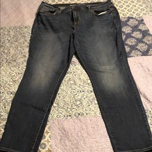Womens old navy blue jeans. Size 16. Mid rise
